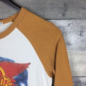 Junk Food Clothing Tops - Junk Food Aerosmith On Tour 84' Raglan Tee
